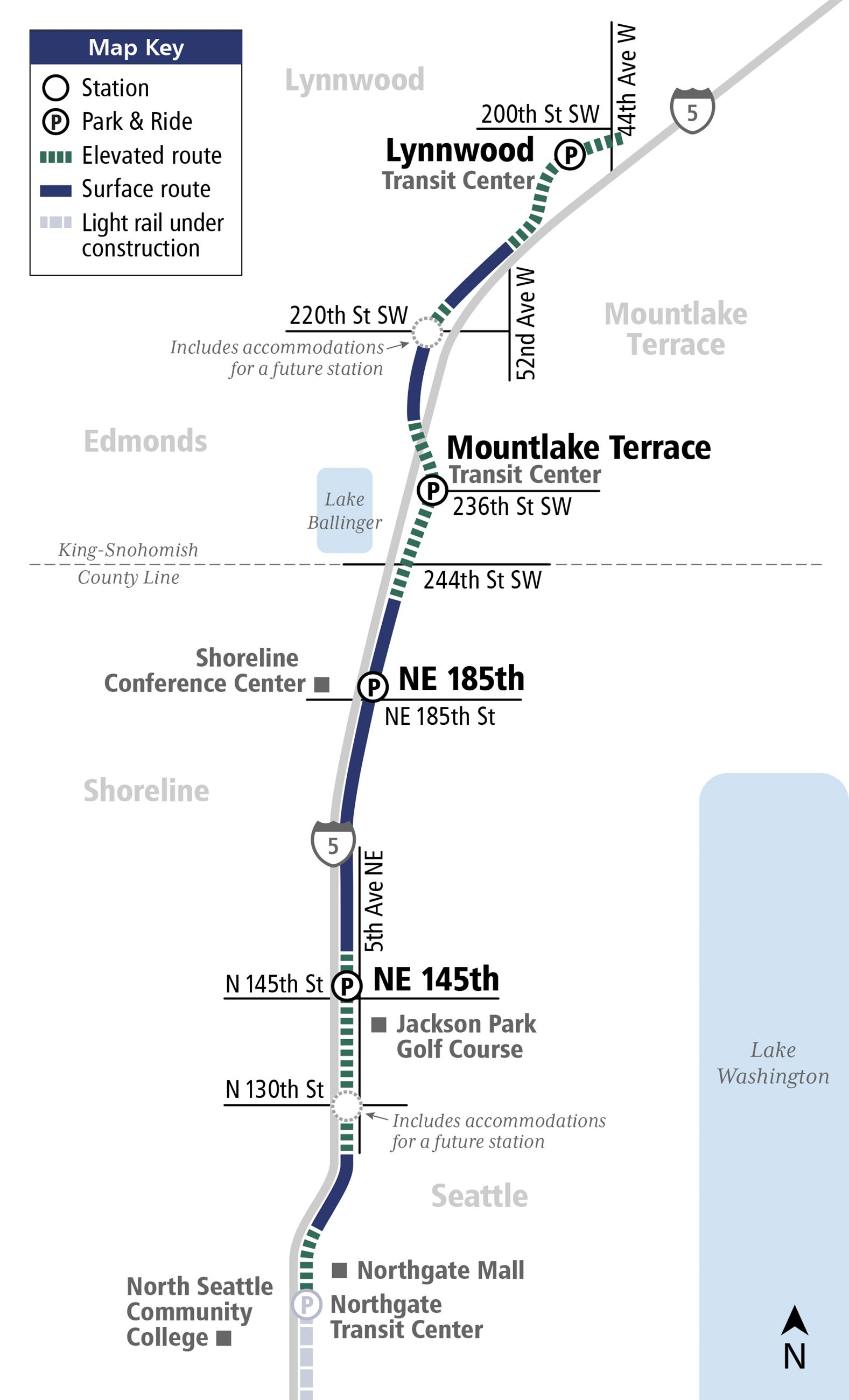 Sound Transit Lynnwood Link Extension Map