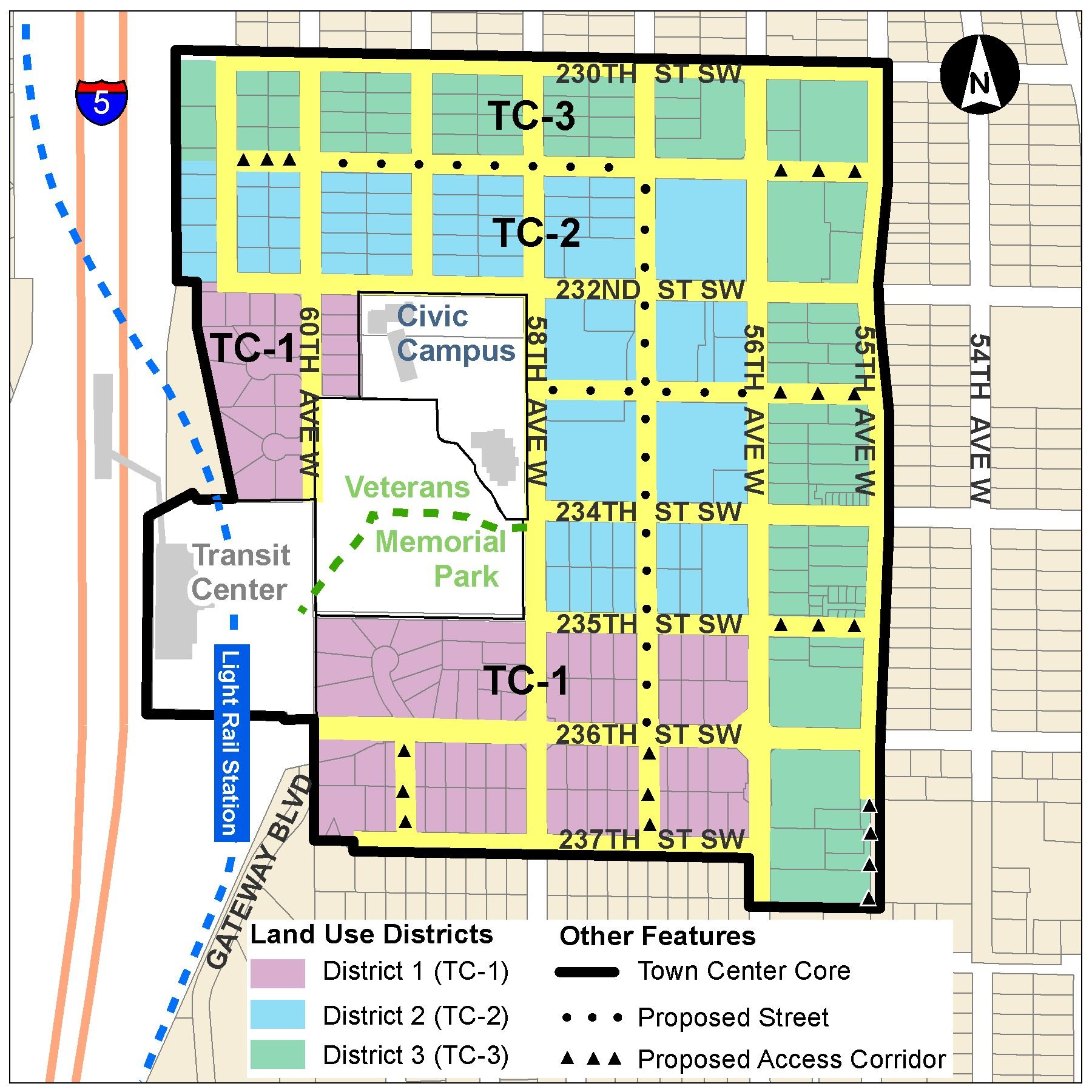 Town Center Area Map Recommended by Town Center Task Force